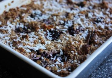 Baked oats met bramen