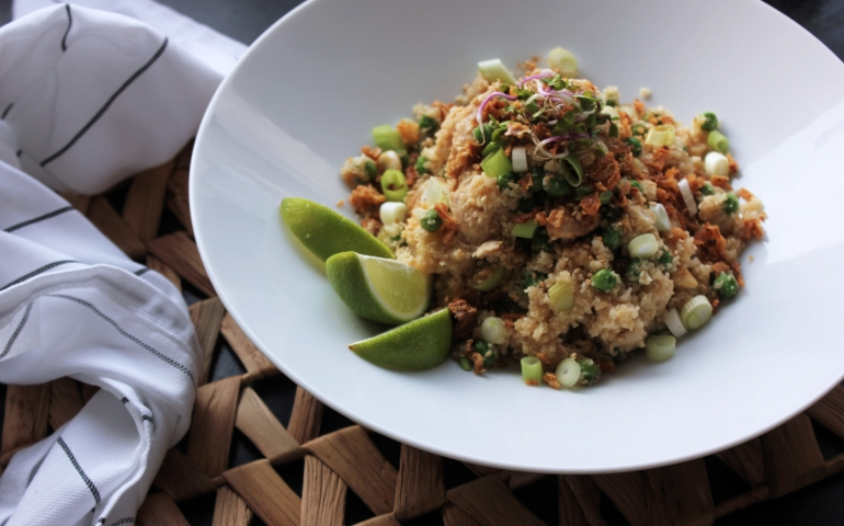 Low carb chicken fried rice