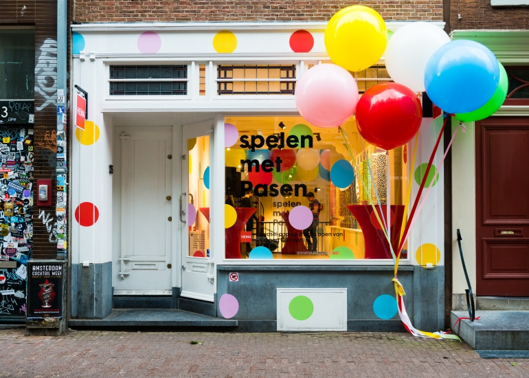 HEMA paasei pop-up shop